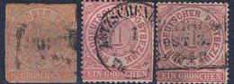 ALLEMAGNE N° 3/15/16 Oblitérés, VOIR SCAN  . - Norddeutscher Postbezirk