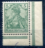 Deutsches Reich    REICHSPOST   Mi.   55    MNH /**   Eckrand  Siehe Bild - Deutschland