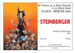 BEDECINE 2004 Denis BAJRAM Etiquette De Vin Du Festival De Bande Dessinée D´Illzach - Champagne