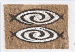 Papoeakunst Op Geklopte Boomschors - Ornament Motief - Irian Jaya - Nieuw Guinea; Indonesie - - Aziatische Kunst