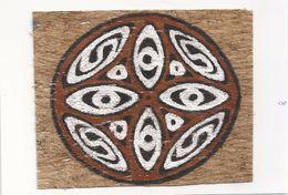 Papoeakunst Op Geklopte Boomschors - Ornament Motief - Irian Jaya - Nieuw Guinea; Pulau Irian - West Papoea - - Art Asiatique