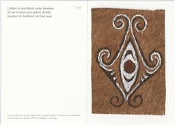 Papoeakunst Op Geklopte Boomschors - Ornament Motief - Irian Jaya - New Guinea – Nieuw Guinea - Indonesië - - Aziatische Kunst