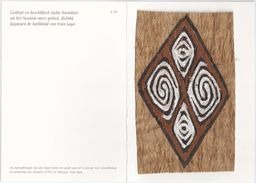 Papoeakunst Op Geklopte Boomschors - Ornament Motief - Irian Jaya - Nieuw Guinea. - Aziatische Kunst