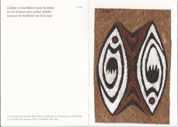 Papoeakunst Op Geklopte Boomschors - Ornament Motief - Irian Jaya - New Guinea – Nieuw Guinea - Indonesië. 2 Scans - Aziatische Kunst
