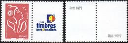 France Marianne De Lamouche N° 3741,A,** TVP Rouge, Offset -> Logo Les Timbres Personnalisés - 2004-08 Marianne Of Lamouche