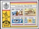 Post 1983 In Tansania Block 31 ** 6€ Briefkasten Antenne Telefon-Institut ITU Transport M/s Bloc Train Sheet Bf Tanzanie - Busses