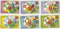 Equatorial Guinea-1974 Soccer World Cup Used Set - Soccer