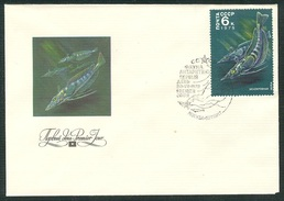 RUSSIA 1978 COVER Used FDC 426 ANTARCTIC MARINE SEA FAUNA WHITE BLOOD FISH FISCH POISSON LING PIKE USSR 4795 - Fauna Antártica