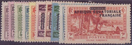 ⭐ AEF - YT N° 17 à 26 * - Neuf Avec Charnière - 1936 ⭐ - Unused Stamps