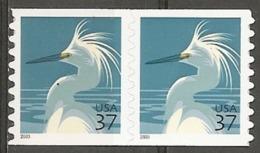 USA. Scott # 3829-29A, MNH Coil Pairs. Birds 2003-04 - Ruedecillas
