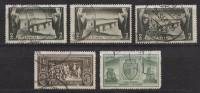 Rumänien; 1933; Michel 458/61 O; Turnu Severin; 5 Stück - Usado