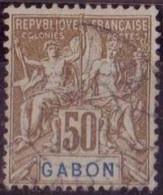 GABON N° 28 OBLITERE