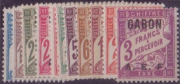 ⭐ Gabon - Taxe - YT N° 1 à 11 * Neuf Avec Charnière - 1928 ⭐ - Timbres-taxe
