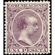 ES226STV-LFT**226STFR.Spain.Espagne .ESPAÑA.ALFONDO  Xlll 1888/9.(Ed 226*) Con Charnela.MAGNIFICO - Familias Reales