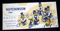 Buvard Cyclisme, Vélo, Pneus HUTCHINSON Illustré Par Mich - Bikes & Mopeds