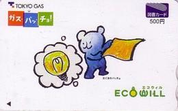 Carte Japon Jouet OURS En Peluche NOUNOURS Energie Tokyo Gas - TEDDY BEAR Japan Tosho Card - PLÜSCH BÄR - 67 - Jeux