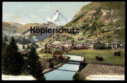 ALTE POSTKARTE ZERMATT ET LE CERVIN MATTERHORN Bahn Schweiz Suisse Railway Cpa Postcard AK Ansichtskarte - VS Valais