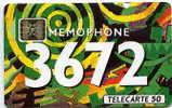 267B - MEMOPHONE 3672 Spirale 50u Sc5an Sans Trou N° Rouge  Du 10/92 (bon état) - Francia