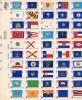 200 Jahre Unabhängigkeits-Erklärung 1976 USA 1203/52 ZD-Bogen ** 26€ 50 Flaggen Bloque US-flags Bloc Sheetlet Bf America - Indépendance USA