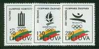 LITHUANIA 1992  MICHEL NO:496-498  MNH - Lituania