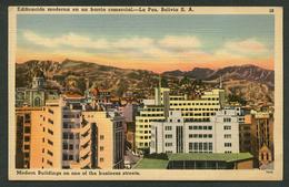 La Paz. *Edificación Moderna En Un Barrio Comercial* Ed. Tichnor Bros Nº 10-78536. Nueva. - Bolivia