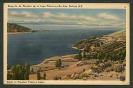 La Paz. *Estrecho De Tiquina En El Lago Titicaca* Ed. Tichnor Bros Nº 11-78537. Nueva. - Bolivia
