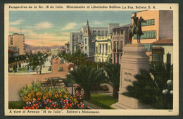 La Paz. *Perspectiva De La Av. 16 De Julio...* Ed. Tichnor Bros Nº 4-78530. Nueva. - Bolivia