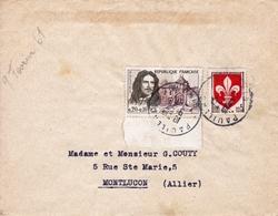 Turenne + Blason Lille Pauillac Gironde Pour Montluçon Allier 9 Février 1961 - France