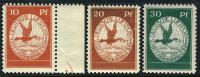 Germany Michel I-III Mint Never Hinged 1st Airmail Issue Of 1912 - Unused Stamps