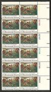 USA. Scott # 1563 MNH Plate Block Of 12. Lexington Concord Battle 1975 - Plattennummern