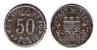 50 PFENNIG STADT WITTEN 1919 - Monétaires/De Nécessité