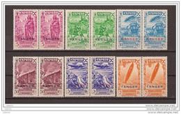 TABE17-L2733TTA.Maroc.Mar Occo.TANGER   ESPAÑOL.BENEFICENCIA. 1943 (Ed 17/22**bl4) Sin Charnela.LUJO - Aviones