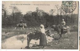 Scenes De La Vie Normande Servantes Rentrant à La Ferme - Fermes
