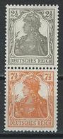 Germany. Scott # 97-98 MNH Pair. Germania Issue 1916 - Germany