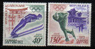Gabun-1972-Olympia-Sapporo  (454-455) Postfrisch,** - Gabun (1960-...)