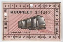 Estonia: Month Bus Ticket From Narva (6) - Europa