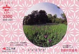 Japan Karte Blume Lilie / Modell 1 - Carte Japon Fleur IRIS Flower Card - 61 - Fleurs