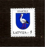LATVIA, Lettland 2007  Bird - Stork  Stamp MNH - Letland