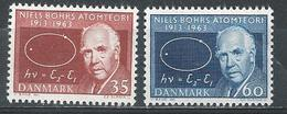 Denmark. Scott # 409-10 MNH & FDC. 50th. Anniv. Of Atom Theory. Joint Issue With Greenland 1963 - Gemeinschaftsausgaben