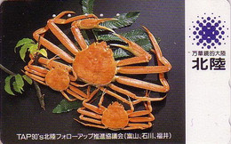 Télécarte Japon - CRABE Crustacé - CRAB Japan Phonecard - KRABBE Telefonkarte - 49 - Ohne Zuordnung