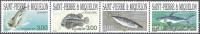 Saint-Pierre & Miquelon 1997 Yvert 646 - 649 Setenant Neuf ** Cote (2015) 8.40 Euro Poissons - St.Pierre & Miquelon