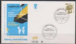 Berlin FDC 1972 Nr.410A Unfallverhütung Schwebende Last ( D176 ) Günstige Versandkosten - FDC: Briefe