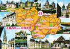 Carte Postale  41.  Département Du Loir-et-Cher Trés Beau Plan - France
