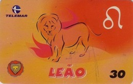 Télécarte Brésil - ZODIAQUE - Animal Lion - HOROSCOPE Leo BRAZIL Phonecard - Zodiac Sternzeichen Löwe - 107 - Brésil
