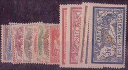 ⭐ Crète - YT N° 1 à 15 * - Neuf Avec Charnière - 1902 / 1903 ⭐ - Unused Stamps