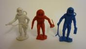 LOT DE 3 cosmonautes en plastique