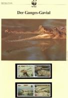 WWF-Set 90 Bangladesh 323/6 ** 10€ Ganges Gavial Naturschutz Krokodil Dokumentation 1990 Fauna Wild-life Stamps Of Asien - Bangladesh