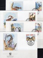 WWF-Set 94 Ascension 521/4 **, 4FDC+ 4MKt. 37CHF Adlerfregatt-Vogel Dokumentation - Timbres