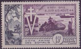 COTE DES SOMALIS N° 24**  PAR AVION NEUF SANS CHARNIERE - Côte Française Des Somalis (1894-1967)