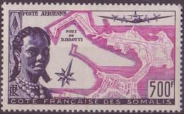 COTE DES SOMALIS N° 25**  PAR AVION NEUF SANS CHARNIERE - Côte Française Des Somalis (1894-1967)